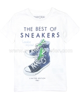 Mayoral Boy's Sneakers T-shirt White