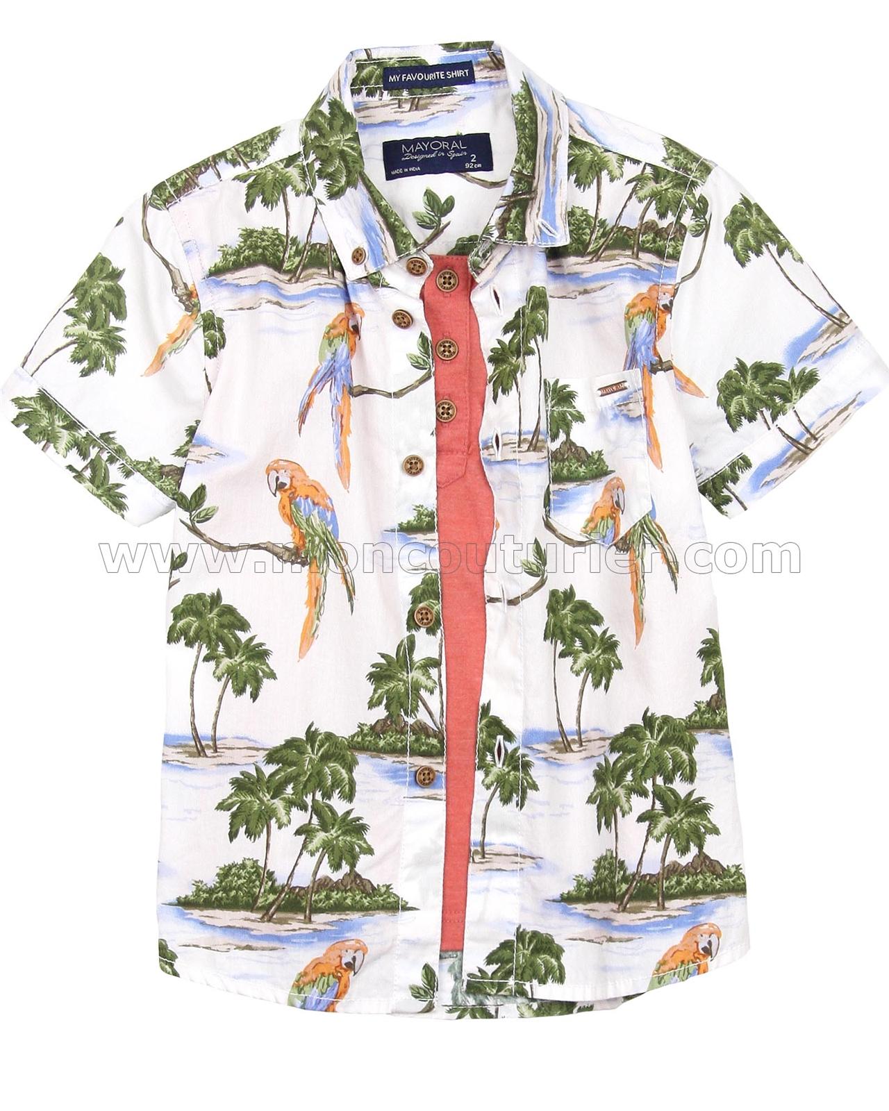 Sizes 2-9 Mayoral Boys Prited Shirt
