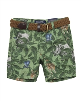 Mayoral Boy's Printed Shorts with Belt