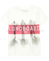Mayoral Boy's T-shirt with Surfers Print