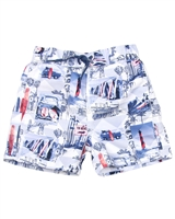Mayoral Boy's Swim Shorts with Surfers Print