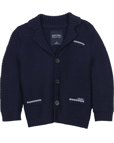 Mayoral Boy's Rib Knit Cardigan
