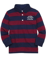 Mayoral Boy's Burgundy Striped Knit Polo