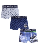 Mayoral Boy's Navy 3-piece Boxers Set