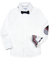 Mayoral Boy's White Dressy Shirt with Bow Tie