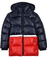 Mayoral Boy's Colour-block Quilted Puffer Coat