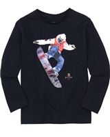 Mayoral Boy's T-shirt with Snowboarder Graphic