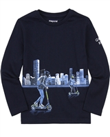 Mayoral Boy's T-shirt with Reflective City Graphic