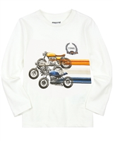 Mayoral Boy's T-shirt with Motorcycles Graphic