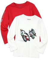 Mayoral Boy's Set of T-shirts with Motorcycle Print