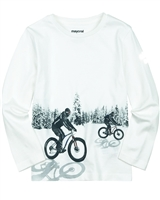Mayoral Boy's T-shirt with Bicycles Graphic