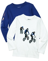 Mayoral Boy's Set of T-shirts with Bicycle Print