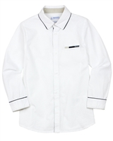 Mayoral Boy's Dress Shirt with Elbow Patches