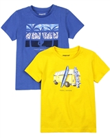Mayoral Boy's Set of Two T-shirts with Surfing Print