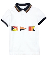Mayoral Boy's Polo with Flags Print