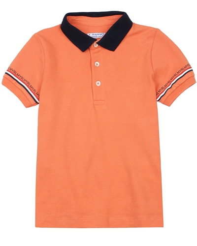 Mayoral Boy's Polo with Printed Sleeves