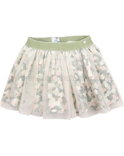 Mayoral Girl's Printed Skirt with Tulle