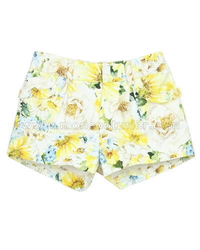 Mayoral Girl's Floral Print Shorts