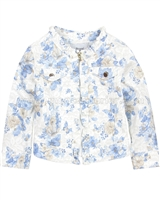 Mayoral Girl's Floral Print Twill Jacket