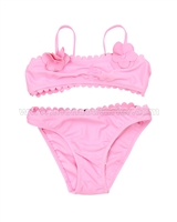 Mayoral Girl's Bikini with Eyelet Pink