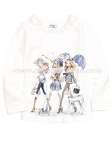 Mayoral Girl's T-shirt with White
