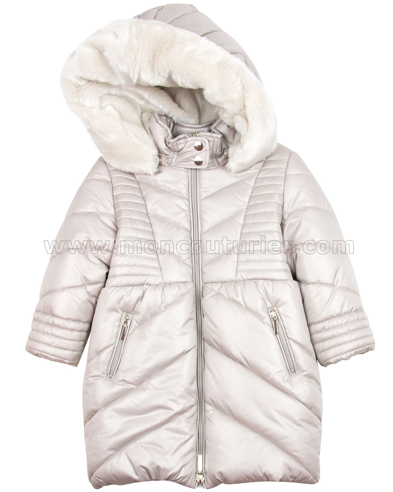 4ff189971 MAYORAL Girl s Puffer Coat with Hood Beige