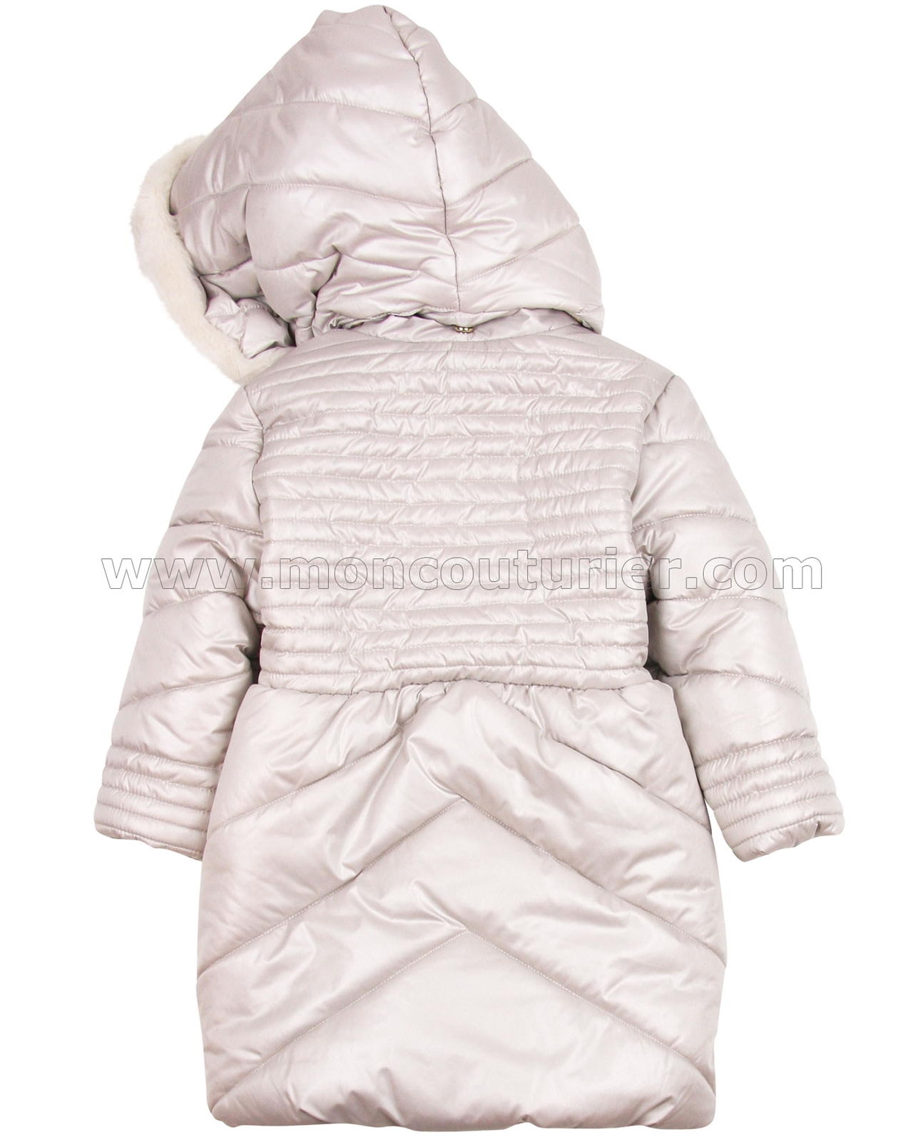Mayoral Girl s Puffer Coat with Hood Beige - Mayoral - Mayoral Fall ... f59ccec34