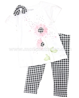 Mayoral Girl's Tunic and Plaid Leggings Set