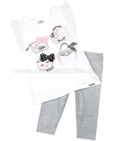 Mayoral Girl's Tunic with Purses and Leggings Set