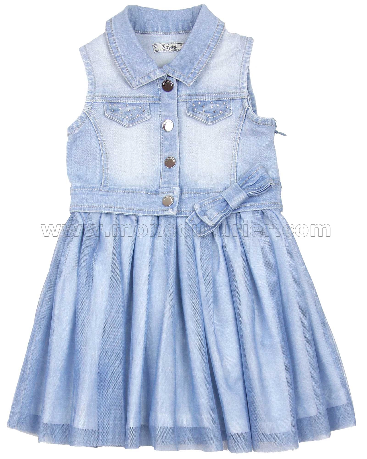 71ad78fe4b6d Mayoral Girl s Denim Combo Dress - Mayoral - Mayoral Spring Summer 2017