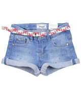 Mayoral Girl's Denim Shorts with Belt