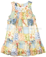 Mayoral Girl's Patchwork Printed Dress