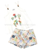 Mayoral Girl's Top and Patchwork Print Shorts