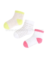 Mayoral Girl's 3-pair Socks Set Lime