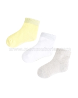Mayoral Girl's Short Socks Set Yellow/Gray