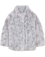 Mayoral Girl's Faux Fur Coat
