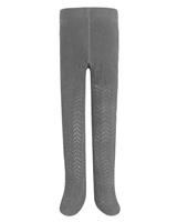 Mayoral Girl's Gray Striped Open Knit Tights