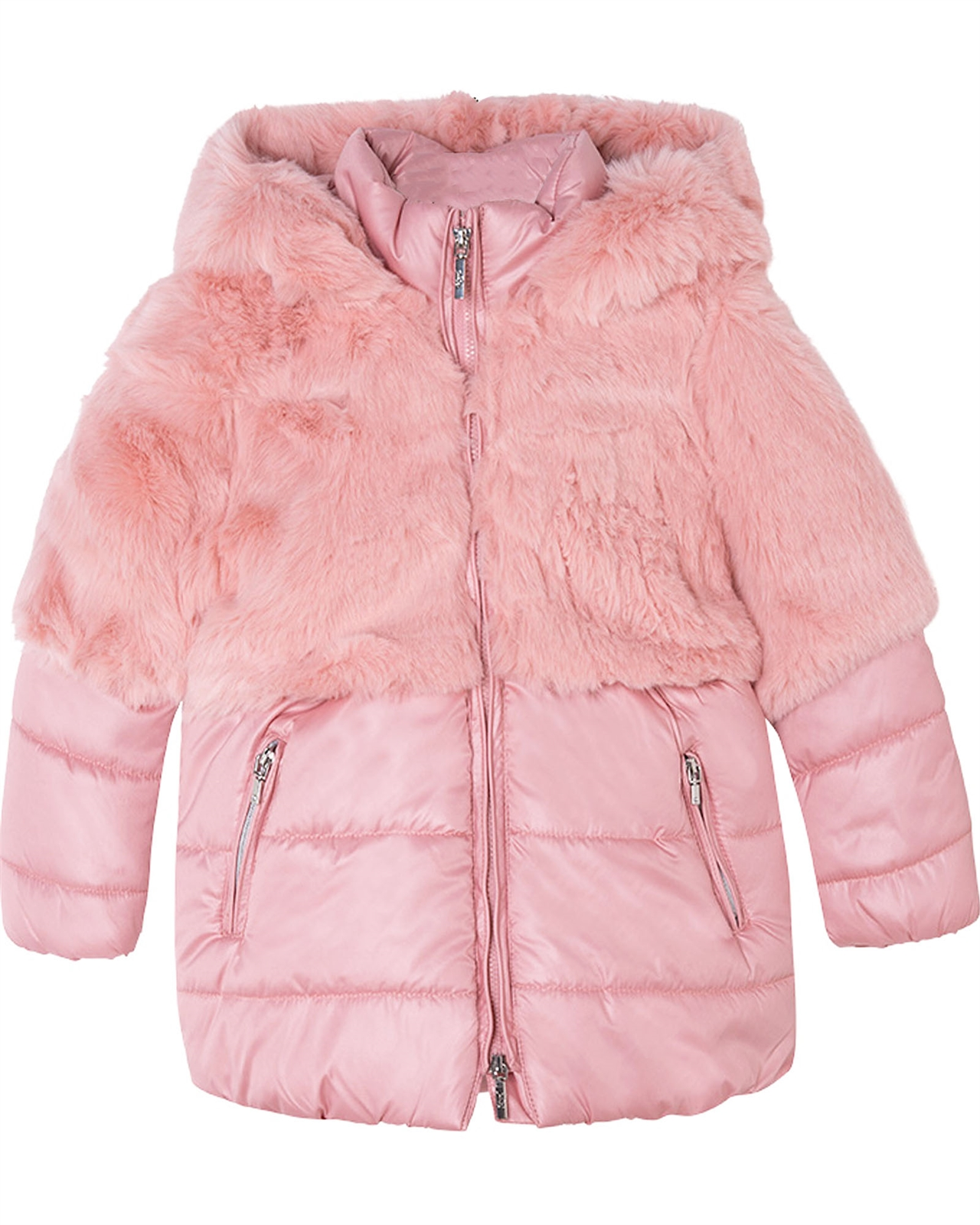 9677843c8 Mayoral Girl s Combined Faux Fur Coat - Mayoral - Mayoral Fall ...