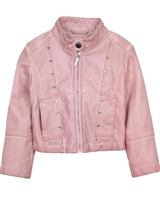 Mayoral Girl's Pink Pleather Jacket