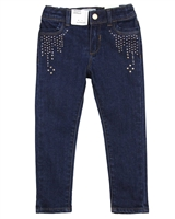 Mayoral Girl's Dark Blue Denim Pants