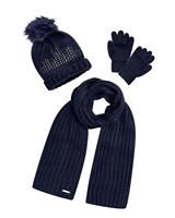 Mayoral Girl's Navy Hat, Scarf and Gloves Set