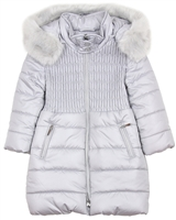 Mayoral Girl's Gray Quilted Puffer Coat