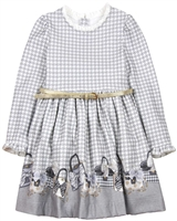 Mayoral Girl's Houndstooth Dress with Belt