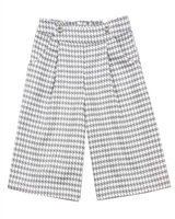 Mayoral Girl's Culotte Pants in Houndstooth Pattern