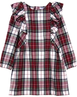 Mayoral Girl's Plaid Dress with Ruffles