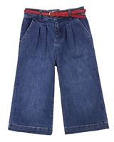 Mayoral Girl's Denim Culotte Pants in Medium Blue