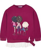 Mayoral Girl's Sweatshirt in a Layered Look