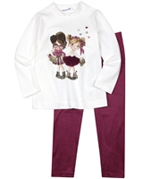 Mayoral Girl's Tunic and Velour Leggings Set