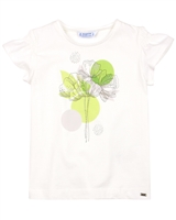 Mayoral Girl's T-shirt with Floral Print and Crystals
