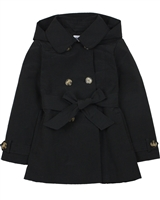 Mayoral Girl's Trench Coat in Black